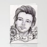 louis tomlinson Stationery Cards featuring louis tomlinson by stylin_art