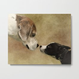 Nose To Nose Dogs Metal Print