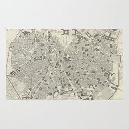 Vintage Map of Madrid Spain (1831) Rug
