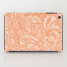 Orange doodles iPad Case