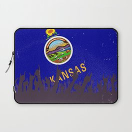 Kansas State Flag with Audience Laptop Sleeve