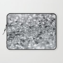 Silver Gray Lady Glitter #1 #shiny #decor #art #society6 Laptop Sleeve