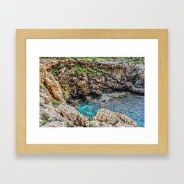 Crumble, Splash Framed Art Print