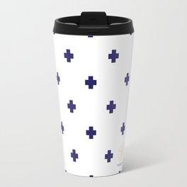 Modern Swiss - Bold Style Cross Plus Sign Travel Mug
