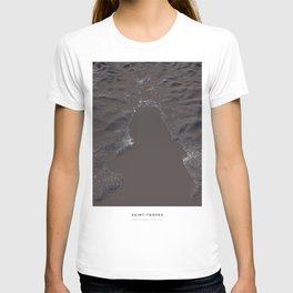 Saint Tropez city map T-shirt