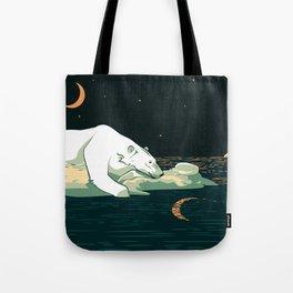 Polar Bear and the Moon Tote Bag