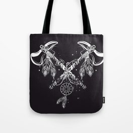 Two crossed tomahawks Tote Bag