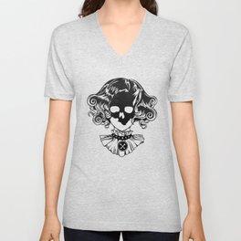 Skull Maiden - Blk Unisex V-Neck