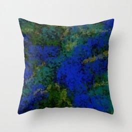 Peacock crystal mosaic Throw Pillow