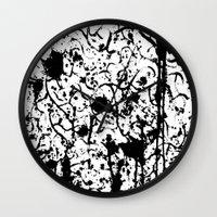 chaos Wall Clocks featuring Chaos by ZantosDesign