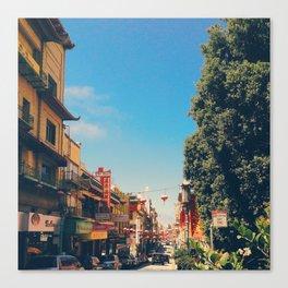 San Fran Chinatown Street View Canvas Print