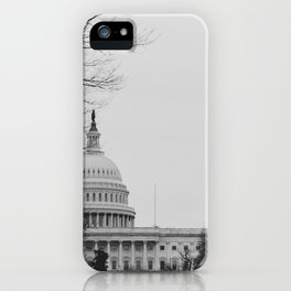 US Capitol Shrouded In Winter Gloom iPhone Case
