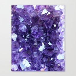 Raw Amethyst - Crystal Cluster Canvas Print
