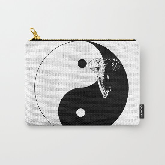 The YIN YANG ELEFANT - LIFE CURRENT series... Carry-All Pouch