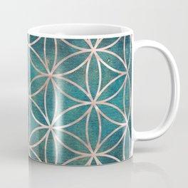 Mandala Flower of Life Rose Gold Space Stars Coffee Mug