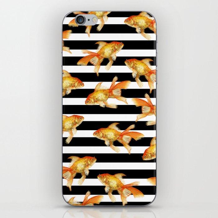 The Golden One II - b&w stripes iPhone Skin