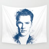 benedict cumberbatch Wall Tapestries featuring Benedict Cumberbatch by Chadlonius