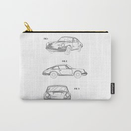 Porsche 911 Patent Drawing Carry-All Pouch