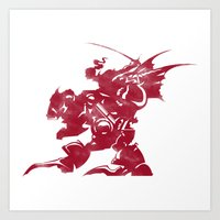 final fantasy Art Prints featuring FINAL FANTASY VI by DrakenStuff+