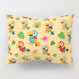 Colorful Macaws Pillow Sham