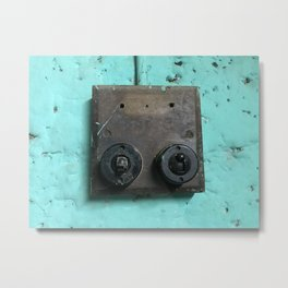 Rustic switches Metal Print