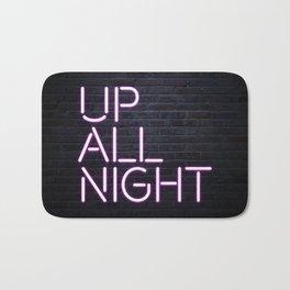 up all night neon Bath Mat
