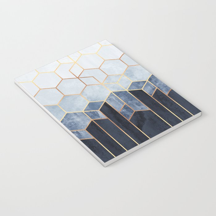 Soft Blue Hexagons Notebook