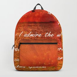 Sunset and Worship of the Creator by Saribelle Rodriguez Backpack