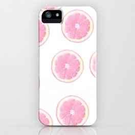 Pink grapefruit iPhone Case