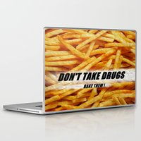 french fries Laptop & iPad Skins featuring French Fries by Ispas Sorin