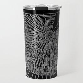 A Large Illustration Of A Spider's Web Travel Mug