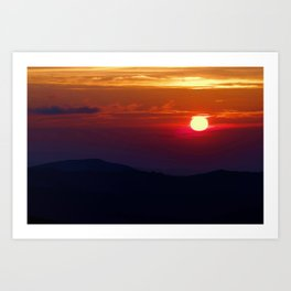 Great Smoky Mountain Sunset Art Print
