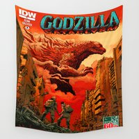godzilla Wall Tapestries featuring Godzilla Rules by Don Kuing