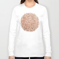 rose gold Long Sleeve T-shirts featuring Rose Gold Burst by Cat Coquillette