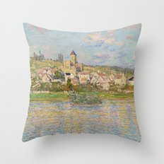 Vetheuil by Claude Monet Throw Pillow
