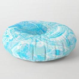 polynesian TURTLE OCEAN spray Floor Pillow
