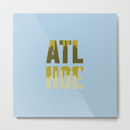 A Blue Ode to the City Metal Print