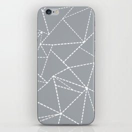 Abstract Dotted Lines Grey iPhone Skin