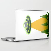 i want to believe Laptop & iPad Skins featuring I Want To Believe by molmcintosh