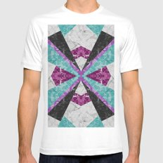 Marble Geometric Background G443 Mens Fitted Tee White MEDIUM
