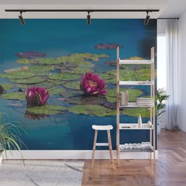 Two water lilies Wall Mural