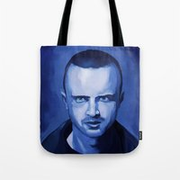 jesse pinkman Tote Bags featuring Jesse Pinkman by Richtoon
