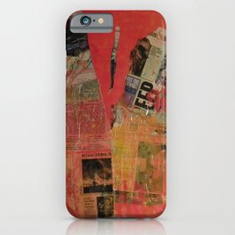 Red Collage iPhone Case