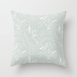 Ethereal Leaves Sage Throw Pillow