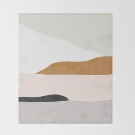 Minimal Art Landscape 2 Throw Blanket