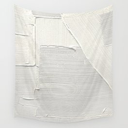 Relief [2]: an abstract, textured piece in white by Alyssa Hamilton Art Wall Tapestry