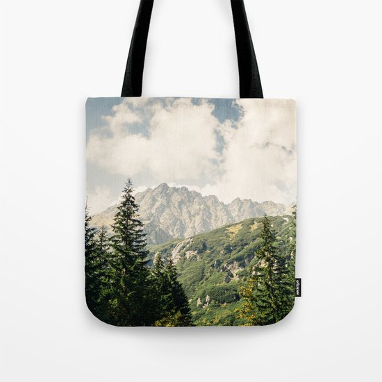Green Summer Mountains Tote Bag