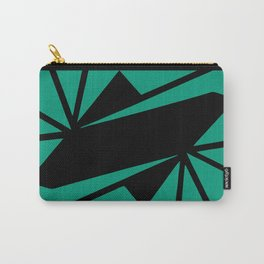 Abstract art deco green and black Carry-All Pouch