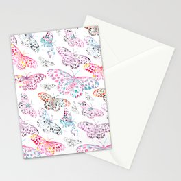Marbling Butterflies Stationery Cards