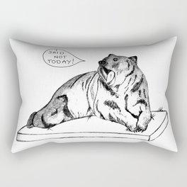 Bear, not today Rectangular Pillow
